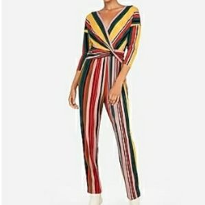 Long sleeve front twist jumpsuit size small